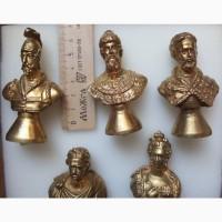 Настольные бюсты русских царей, пластик, золочение ювелирным золотом