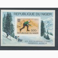 Марка- блок Олимпиада Инсбрук 1976г (Государство- Нигерия)