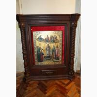 Подвесной киот для иконы, кон. XVIII в. Русский Север в Санкт-Петербурге