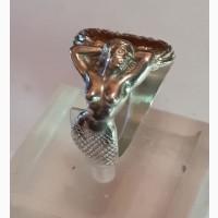 Серебряный перстень Русалка, серебро 925 проба, перламутр, авторская работа
