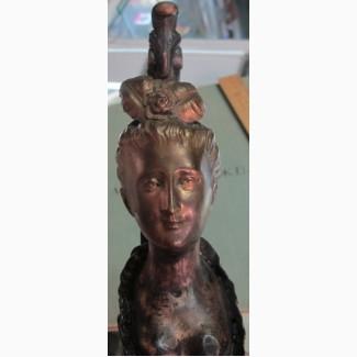 Бронзовый бюст Екатерина 2, 19 век вес