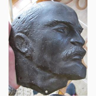 Чугунная голова Ленина, чугунное литье, ранние советы
