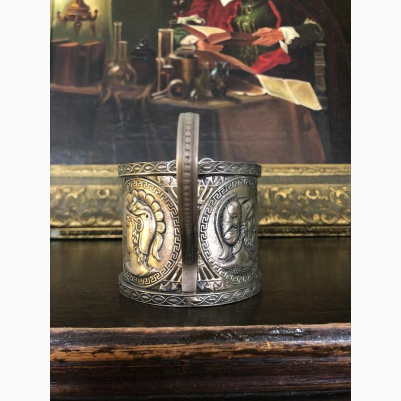 Фото 4. Подстаканник фраже (античные герои в медальонах)