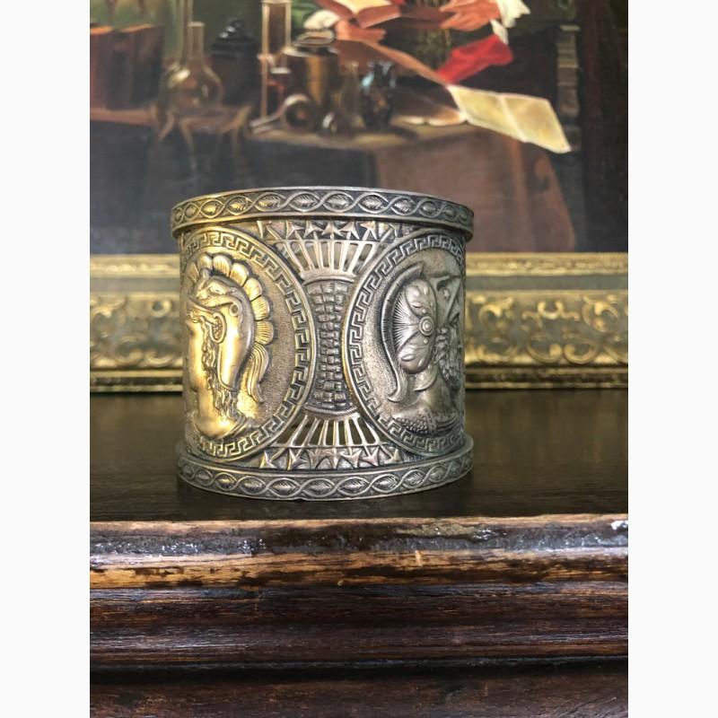 Фото 5. Подстаканник фраже (античные герои в медальонах)