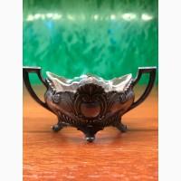 Серебряная солонка со стеклом 84
