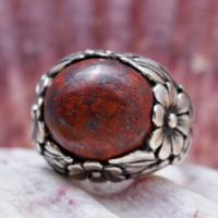 Серебряное кольцо с яшмой, GEJ THAY