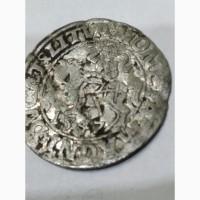 Монета 1547 года, полу грош, Великое Княж Литовское Вильно. Времена крестоносцев