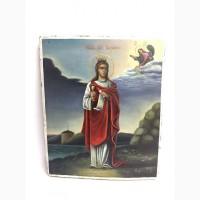 Старинная икона Святая великомученица Варвара Вторая половина 19 века