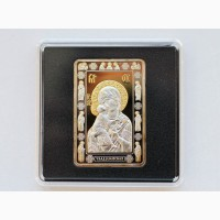Продается Серебряная монета 20 рублей Владимирская икона Божией Матери. Беларусь 2012г