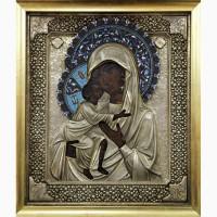 Продается Владимирская икона Божией Матери. XVIII - XIX век