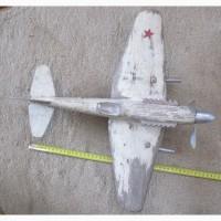 Детская игрушка самолет, дерево, ручная работа, 1950е годы