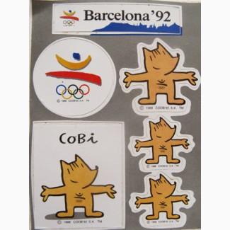 Наклейки Олимпиады-92 в Барселоне
