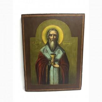 Старинная икона «Святой Анатолий Патриарх Цареградский» Вторая половина 19 века