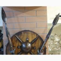 Настенный комплект спартанца, 2 копья и щит