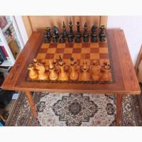Шахматы деревянные большие со столом-шахматной доской, СССР