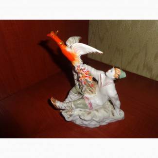 Статуэтка советский фарфор иван с жар птицей лфз 1950-х