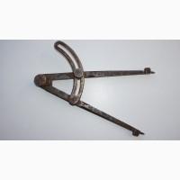 Старинный разметочный столярный циркуль. Россия, середина XIX века