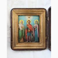 Продается Икона Св. рав. Нина, Св. Иоанн Воин, Св. му. Лидия. Конец XIX века