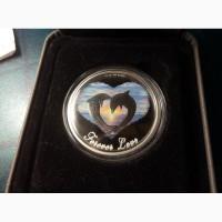 Монета Влюбленные дельфины 50 центов Тувалу 2013 г