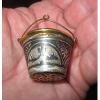 Серебряное чайное ситечно, серебро 875 проба