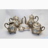Продается Серебряный миниатюрный чайно-кофейный сервиз. Испания 1934-1955 гг