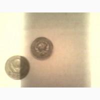 Продам монеты СССР серебро 10 копеек 1930 года, 2 копейки 1957 года