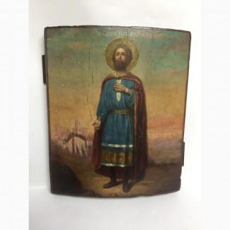 Старинная икона Святой благоверный князь Михаил Тверской 19 век