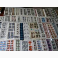 Почтовые марки СССР в листах на вес от 1 килограмма