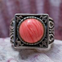 Серебряное кольцо с родохрозитом (винтаж)