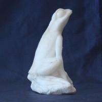 Элитный подарок для ценителей искусства из натурального камня ангидрит Лягушонок БОЛОТ