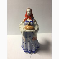 Фарфоровая статуэтка Хлеб-сольДулево 1954г. (в голубом)