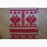 Старинный рушник с имперской символикой. Лен, ручная вышивка. Россия, конец XIX века