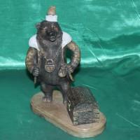 Медведь Купец авторская работа эксклюзивный сувенир оригинальный подарок бизнес класса