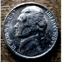 Редкая монета 5 центов 1989 год. США
