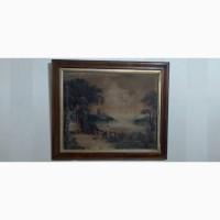 Картина антикварная 19 век