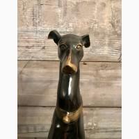 Собака на постаменте бронза литьё винтаж