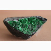Уваровит, щетка кристаллов на хромите Арт.: 2331