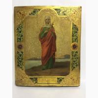 Старинная икона Св.Мученицы Натальи в киоте Рубеж 19-20 века