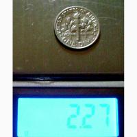 Редкая монета 10 центов 1987 год. США