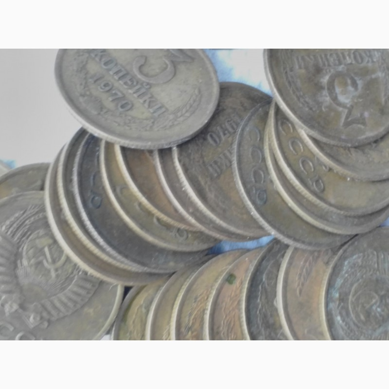 Фото 3. Продам монеты 3коп 1970г, лот 30шт