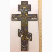 Крест напрестольный большой, многоцветные эмали, 19 век