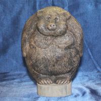 Символ России элитный подарок медведь ТОПТЫГИН ручная работа из натурального камня