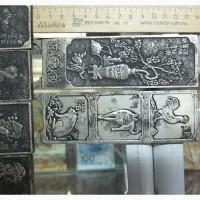 Серебряные пластины тханки 12 шт, начало 20 века