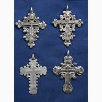 Конволют из 4-х наперсных серебряных крестов-тельников XV века
