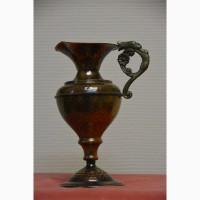 Уникальная старинная вещь. Элегантный медный кувшин ручной работы.21 см, Германия
