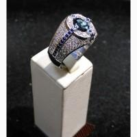 Продается Кольцо с бриллиантами 1, 51 ct и сапфирами 1, 35 ct
