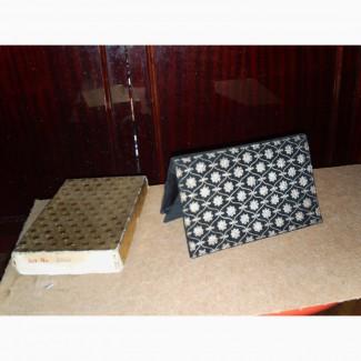Черная бархатная сумочка-клатч, 50-60 г.г