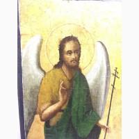 Икона Св.Иоанн Предтеча и Св.Муч.Васса Афон 19 век. (Подписная)