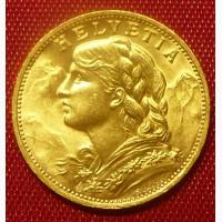 Швейцария, золотые 20 франков 1927 г