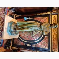 Скульптура Девушка с вилами, шпиатр, 1906 год, авторская, Европа